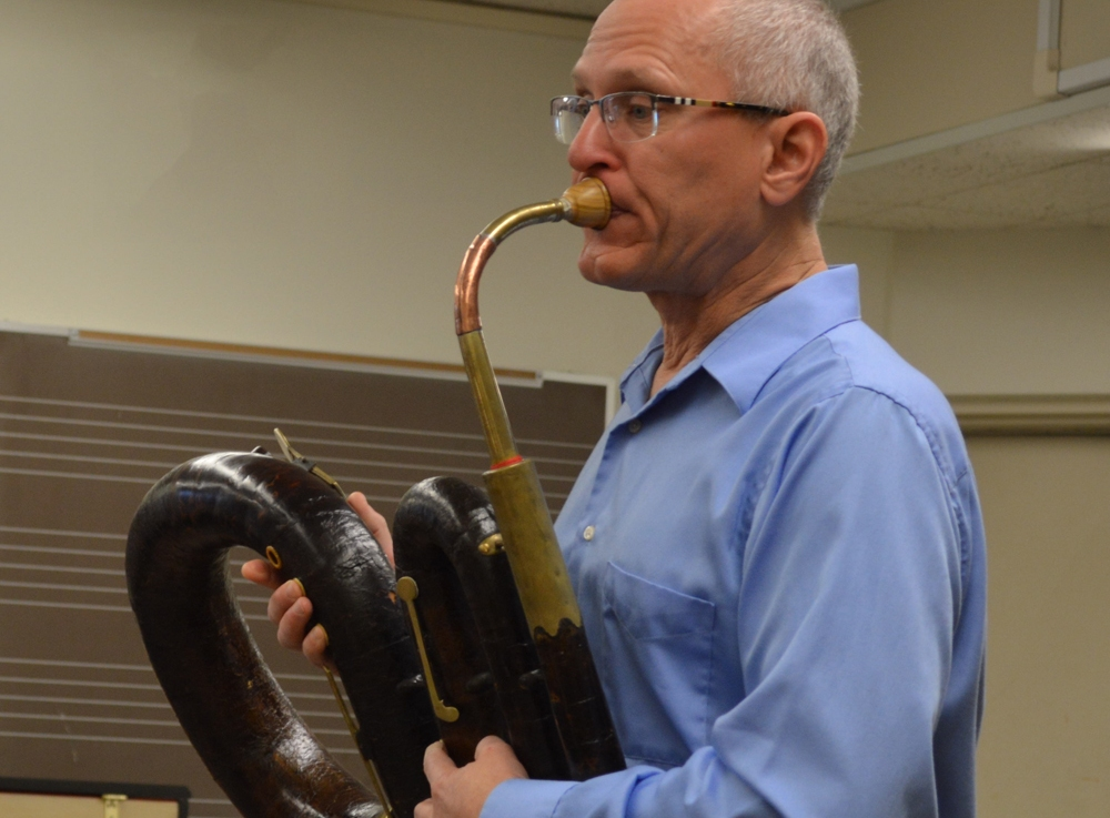 Residency at Bowling Green State University: serpent, trombone and a face cake