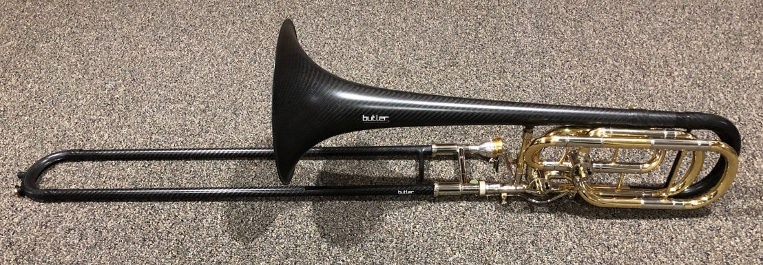 My new carbon fiber bass trombone by Butler Trombones. This is not a toy.