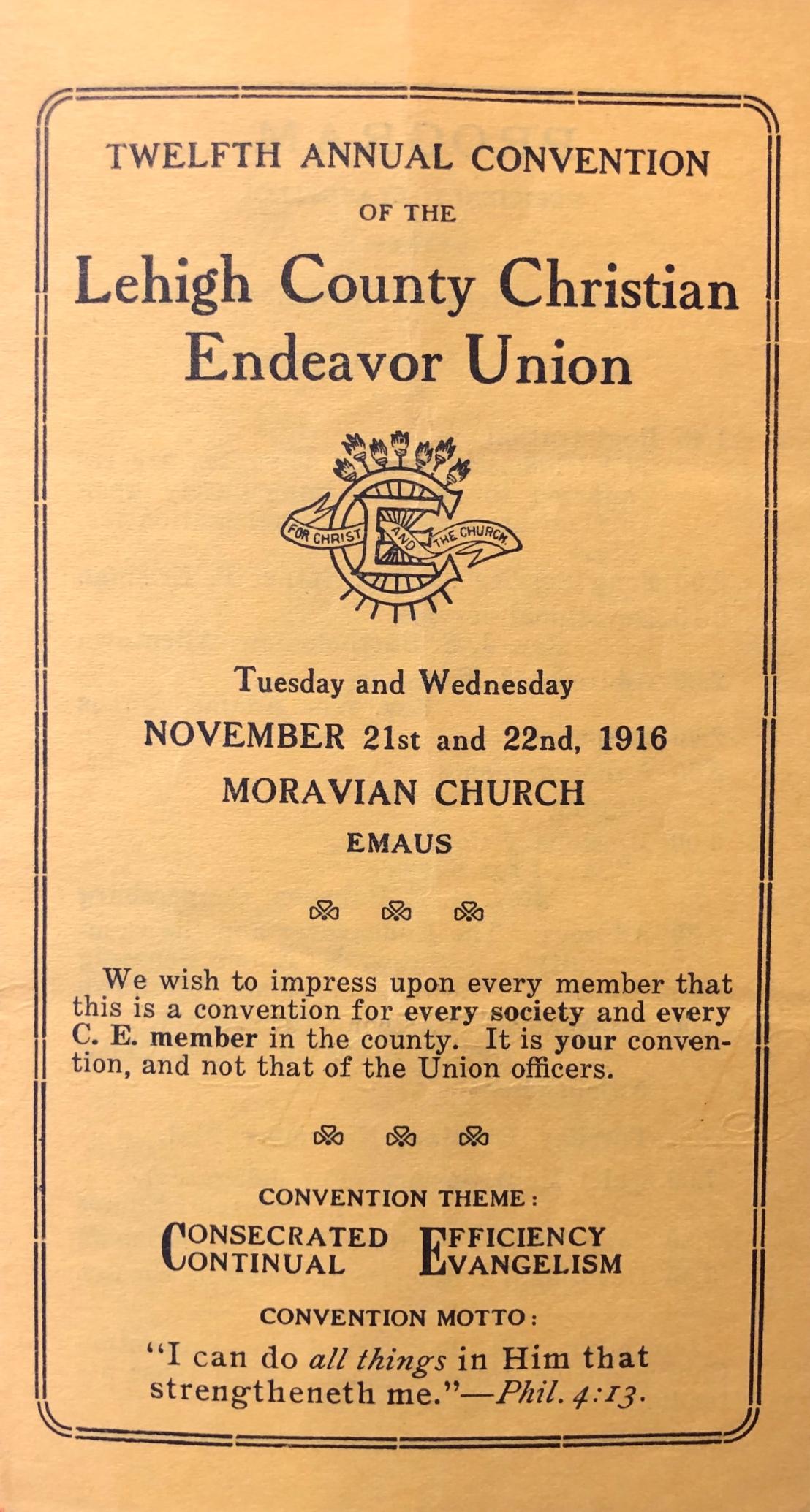 lehigh_christian_endeavor_pamphlet_1916