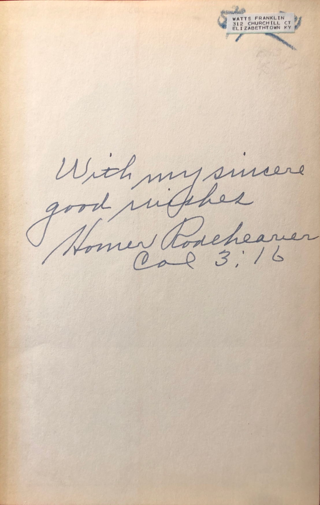 rodeheaver_20_years_billy_sunday_autograph