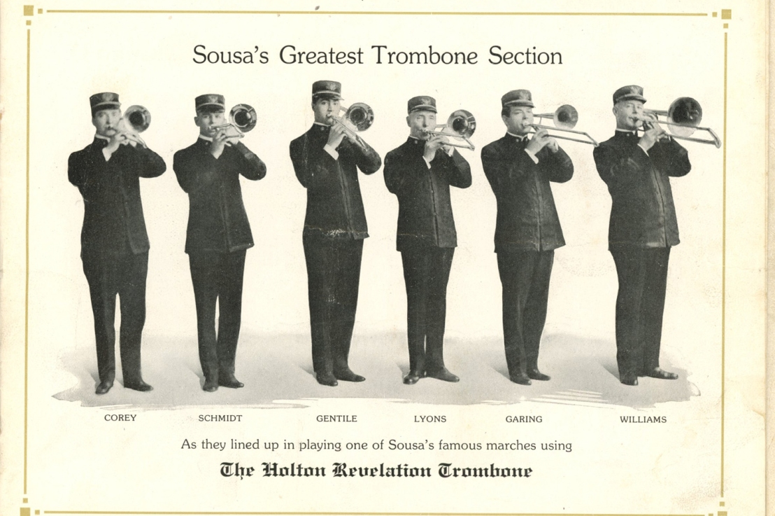 A few famous trombone players—Holton catalog, c.1920