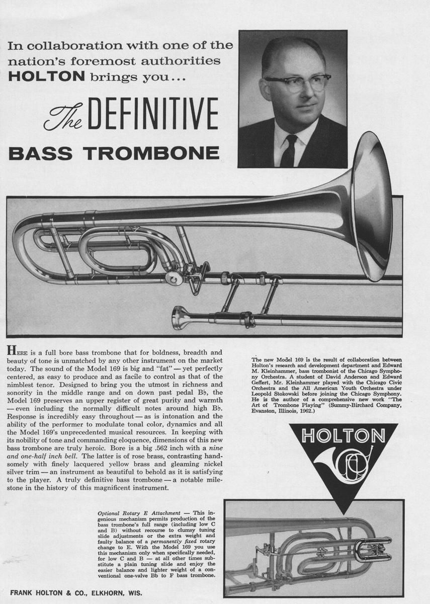 Kleinhammer_Holton_ad_1962