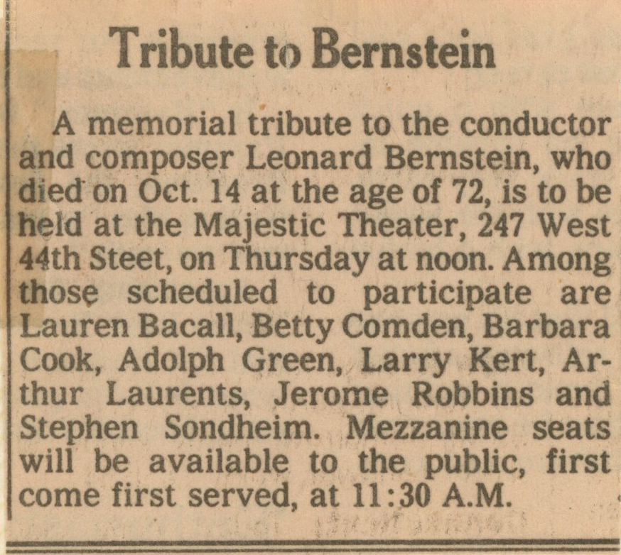 Bernstein_Broadway_tribute_NY_Times_announcement
