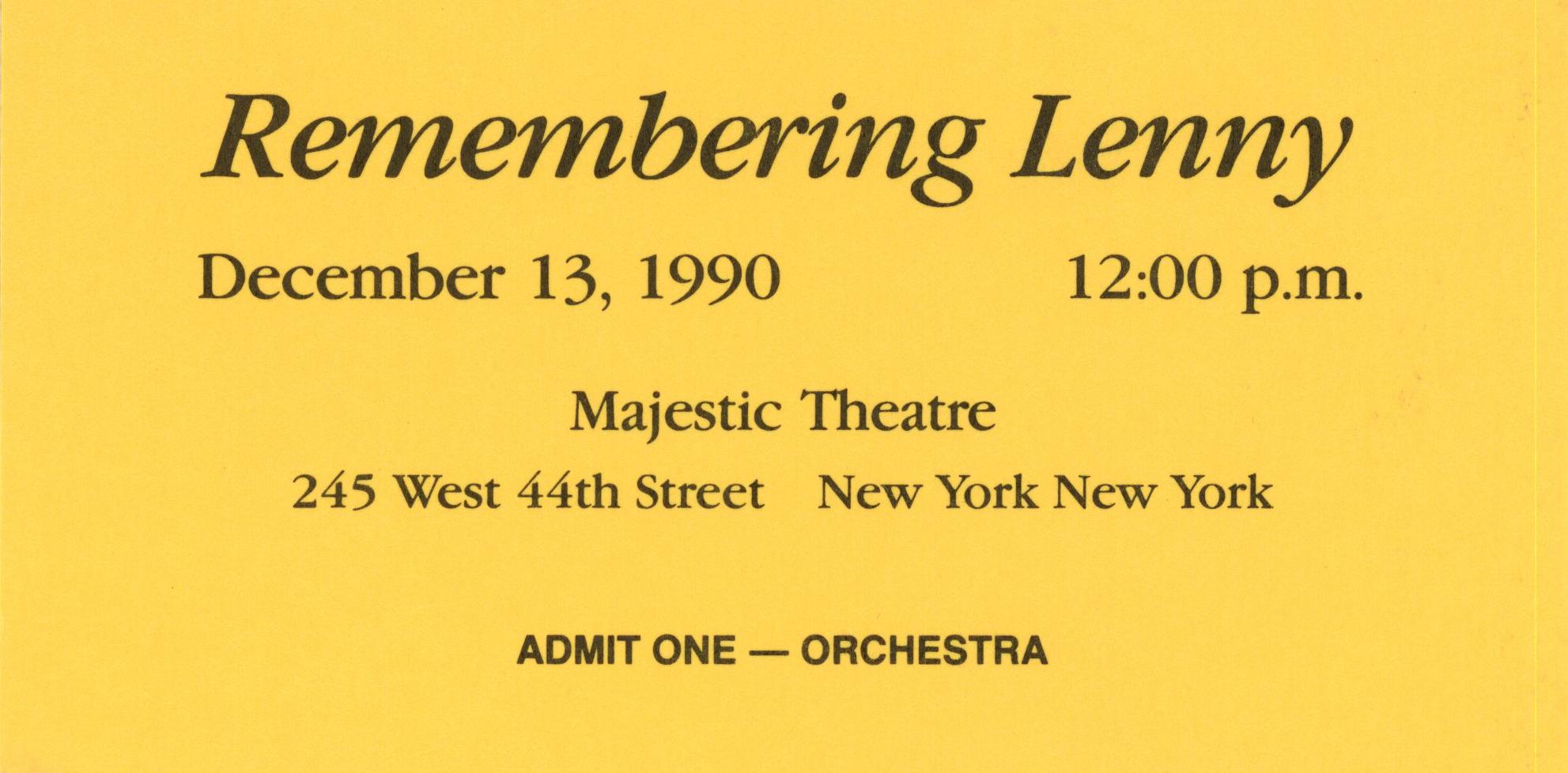 Bernstein_Broadway_tribute_ticket_1990